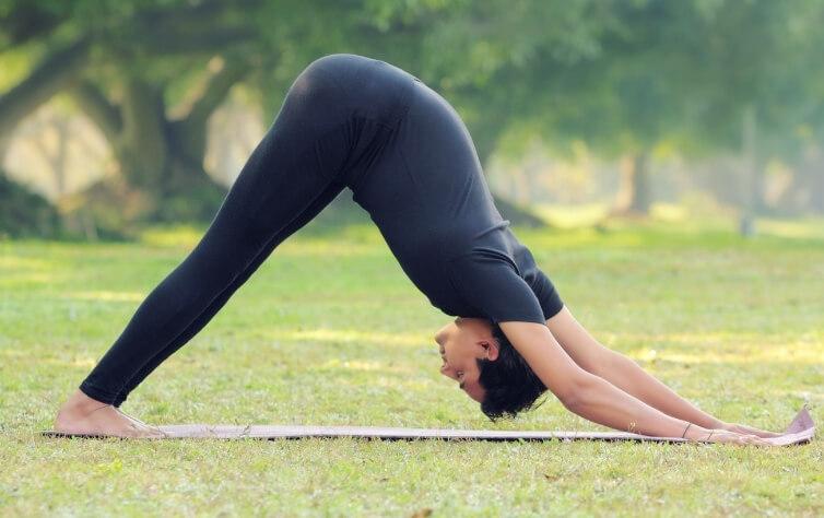 sun pose yoga