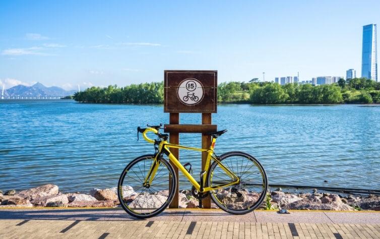 fahrrad fahren bei der hitze